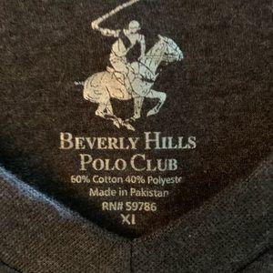 EUC XL Men's Gray Tee, Beverly Hills Polo